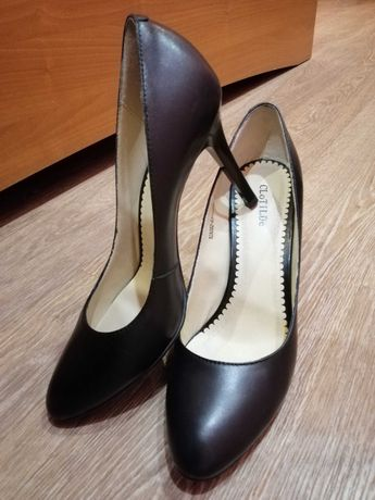 Туфли лодочки женские новые чёрные экокожа