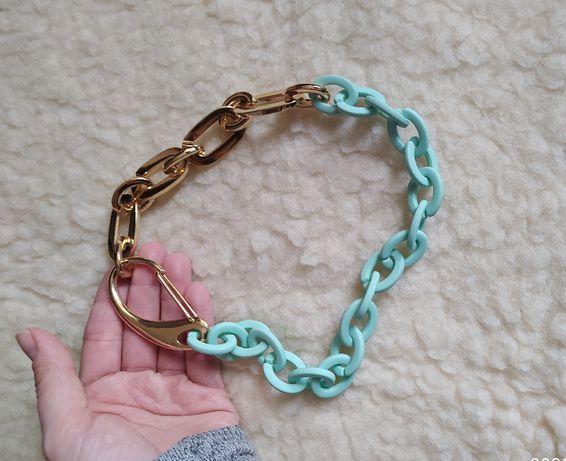 Naszyjnik Drift mięta złoto łańcuch miętowo złoty 50 cm