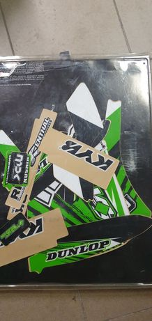 Kawasaki kx 85 od01 do 09  okleina poszycie siedzenia
