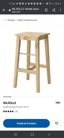 Krzesło barowe hokery ikea nilsolle