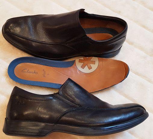 CLARKS PLUS męskie NOWE skórzane półbuty mokasyny pantofle r.45/46