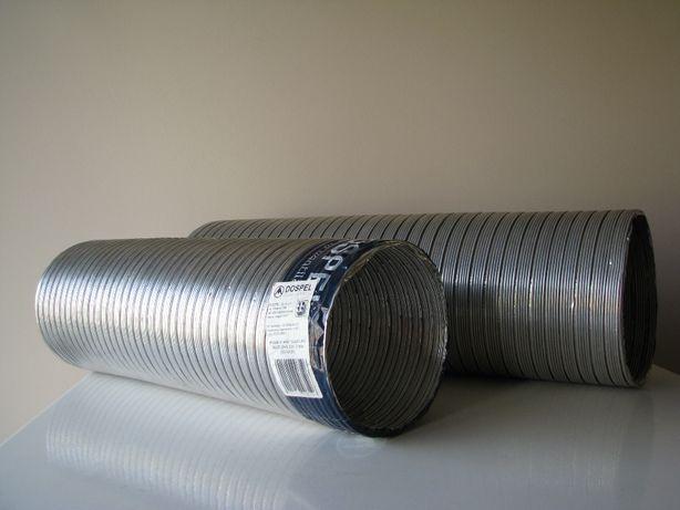 Rura aluminiowa, przewód Spiro Flex 125 i 150 Dospel Alufleks 1m -1,4m