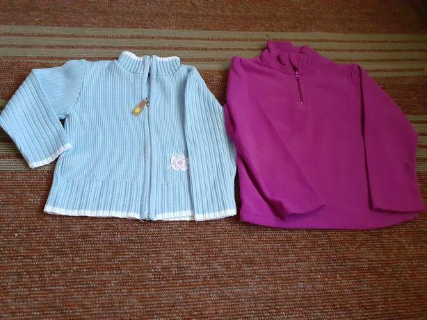 Bluzy sweterki i spodnie 110 dziewczynka