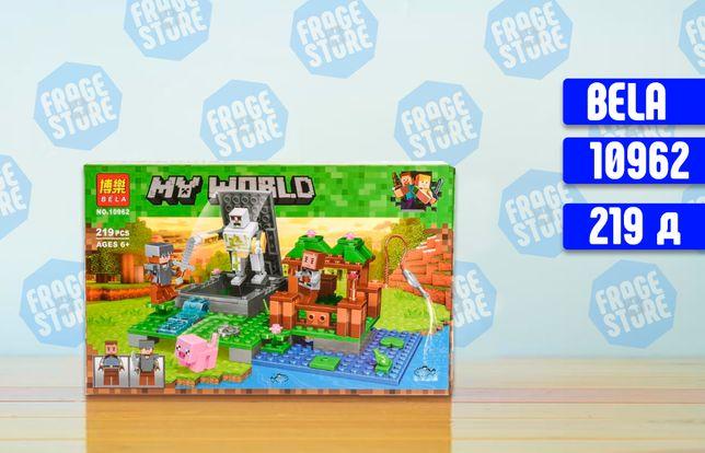 """Конструктор Bela Minecraft 10962""""Голем на ферме"""", 219 деталей, лего!"""