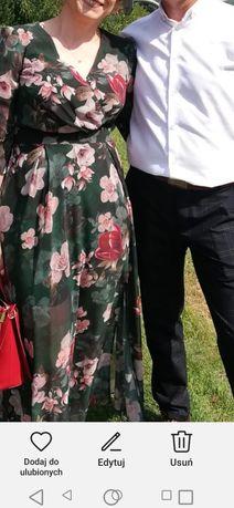 Sukienka dluga w kwiaty