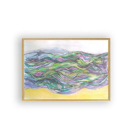 Nowoczesny obrazek z morzem,morze obraz,morze rysunek,abstrakcja obraz