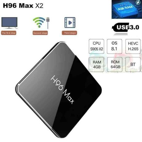 H96 MAX DDR4 4/64Гб S905X2 Android 8.1. Смарт ТВ приставка