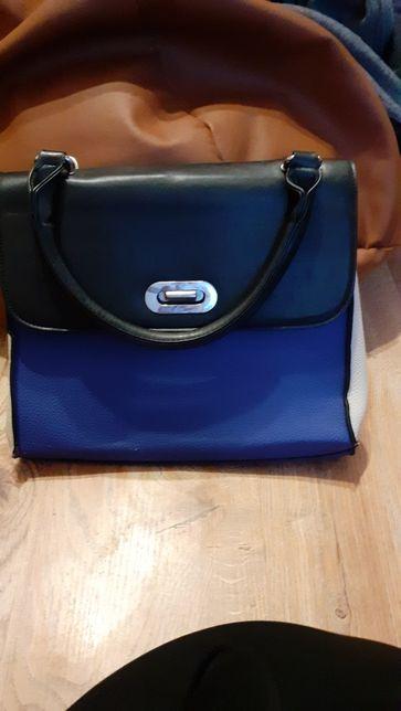 Sprzedam torebkę czarno, -niebieska
