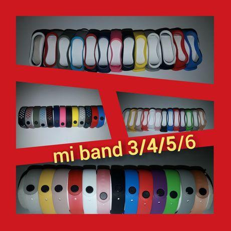 Силиконовый ремешок (браслет) Xiaomi mi band 3/4/5/6 ми бенд 3/4/5/6