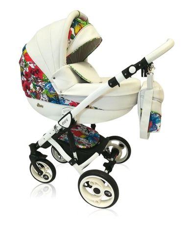 Używany wózek 3w1 gondola spacerówka nosidełko Aura Limited