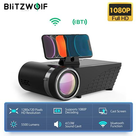 Проектор BlitzWolf BW-VP8 5500lm WiFi телевизор Xiaomi Sony PS