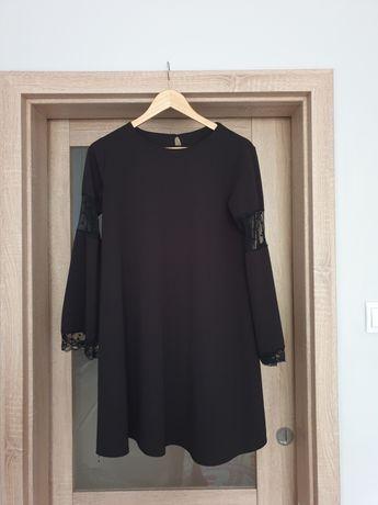 Sukienka czarna tiul groszki candytm