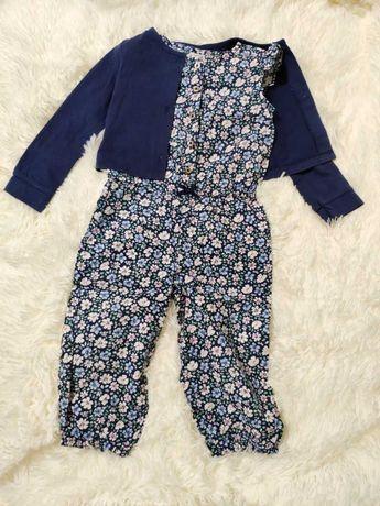 Летний костюм Carter's - комбинезон, кофта (24m)