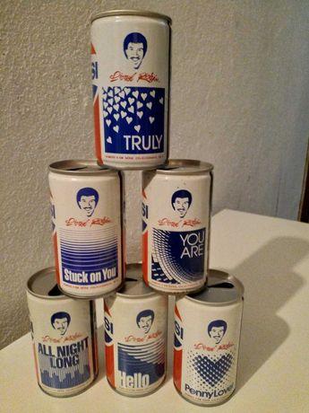 Latas Pepsi Cola Lionel Richie - coleção completa