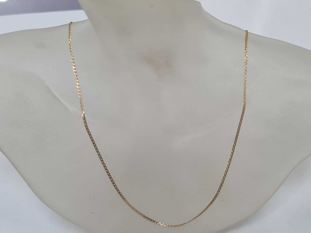 Piękny złoty łańcuszek damski/ 585/ 1.40 gram/ 45cm/ Ciekawy splot