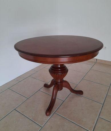 Mesa em madeira maciça, extensível para oval