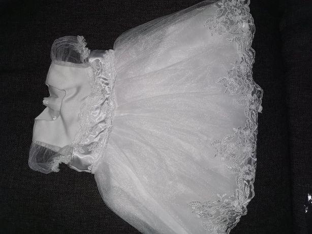 Sukiennka do chrztu r. 74. Dulambie Emma+opaska gratis