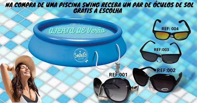 Piscina Insuflável 366X91cm 6.756L C/Bomba  *Oferta Óculos de SOL*