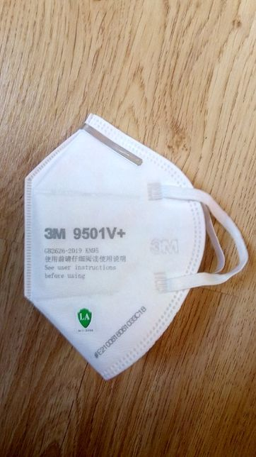 10 x 3M 9501V+ Maseczka maska ochronna antywirusowa KN95 FFP2 zawór