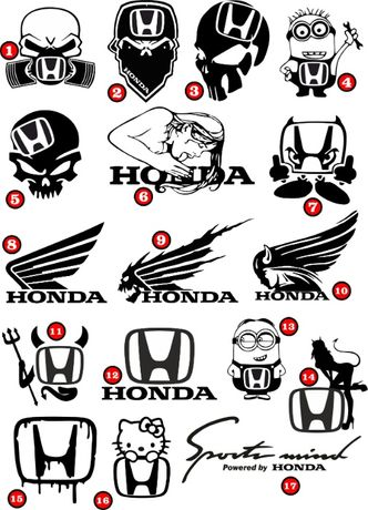 Naklejka Wlepa na samochód Honda Mercedes Volkswagen + Indywidualne