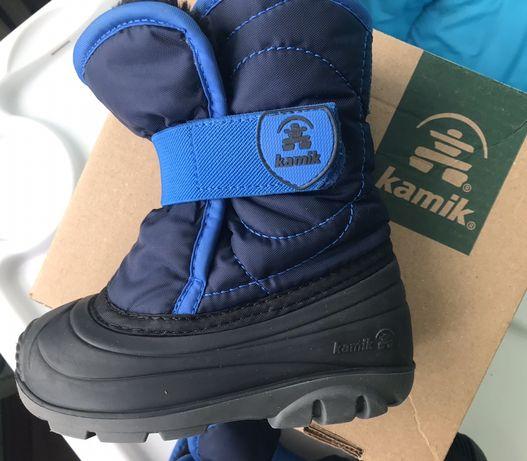 Сноубуты, детские зимние ботинки, Kamik, стелька 15,5см