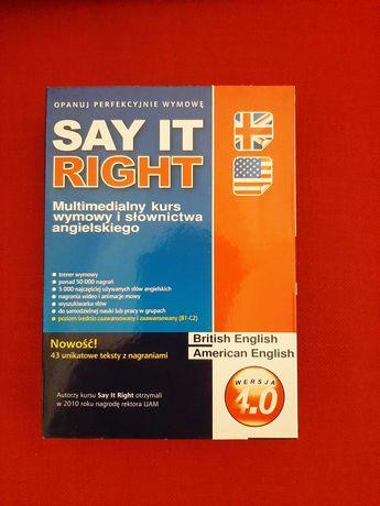 Kurs wymowy Say it right 4.0 IDEAŁ