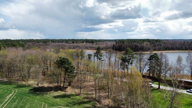 Dzialka Mazury widok na  jezioro Jagodne SWJ 1000m2