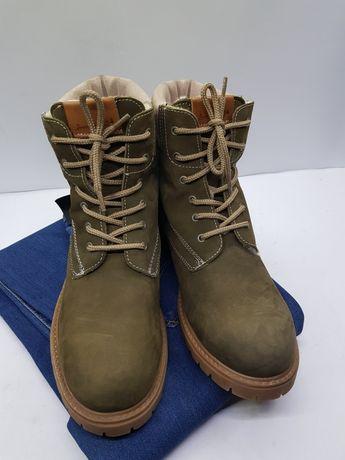 Зимние кожаные ботинки на меху Sommerkind 40 оригинал Timberland