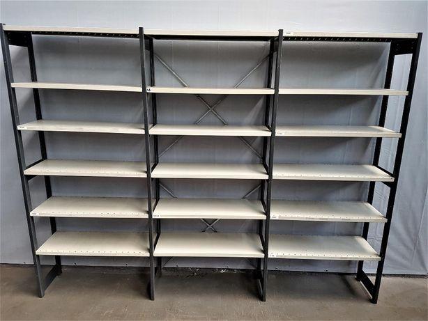REGAŁ 40x228x303cm/18p Metalowy Magazynowy Garażowy Półkowy.