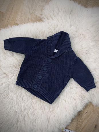 Ciepły gruby elegancki sweterek Next 56-62 na guziki