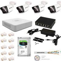 Profesjonalny zestaw monitoringu IP do domu/firmy/sklepu HIKVISION