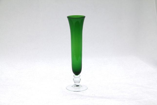 Wazon szklany barwiony w masie wys 21cm vintage New LOOK