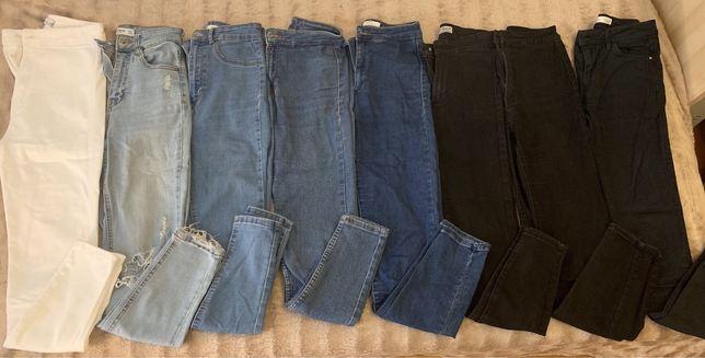 Calças 34 cintura subida