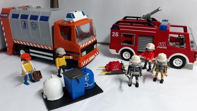 Playmobil straż i śmieciarka