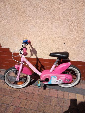 Rower dziecięcy różowy plus boczne kółka