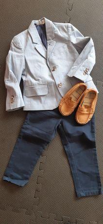 REZERWACJA Marynarka spodnie komplet garnitur elegancko