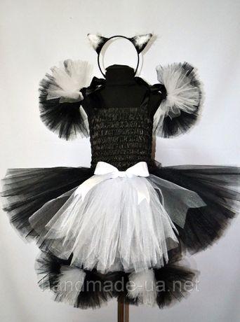 Нарядный костюм-майка+юбка-пачка на девочку 5-6 лет