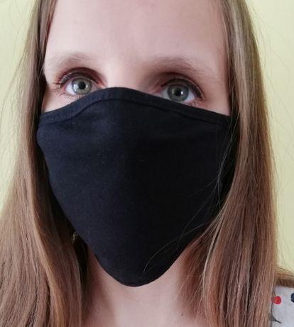Maska maseczka na twarz dwuwarstwowa Bawełniana