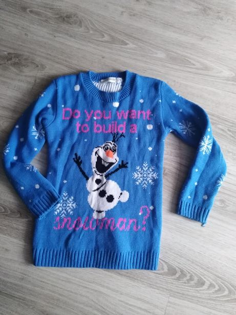 Sweterek dla dziewczynki r. 128-134 Kraina lodu Frozen Olaf