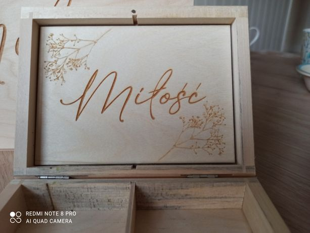 Szkatułka, pudełko na obrączki, pudełko, skrzynka na koperty