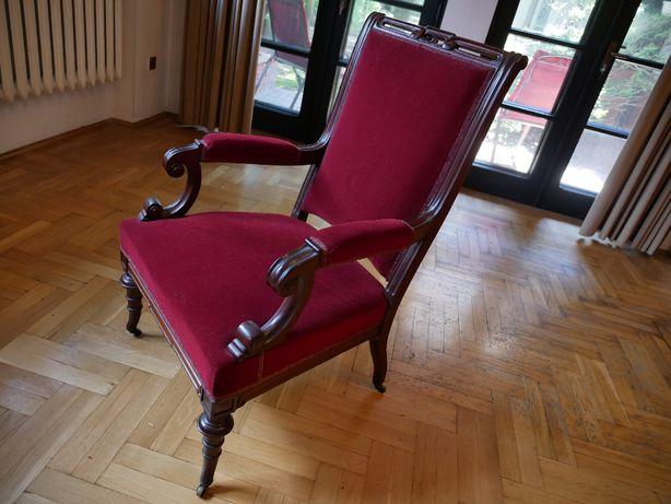 Zabytkowy fotel z przełomu wieków XIX/XX, piękny!