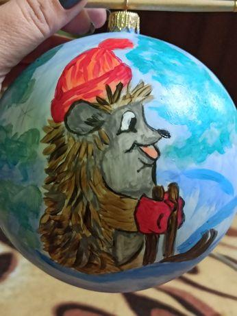 Ялинкова кулька (игрушка на елку) ручний розпис.