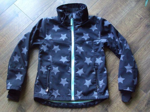 H&M kurtka softshell czarna w gwiazdki