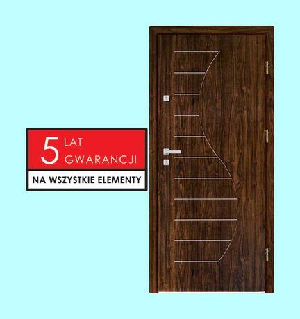 Ciche drzwi antywłamaniowe wejściowe do bloku z montażem.Polskie TANIO