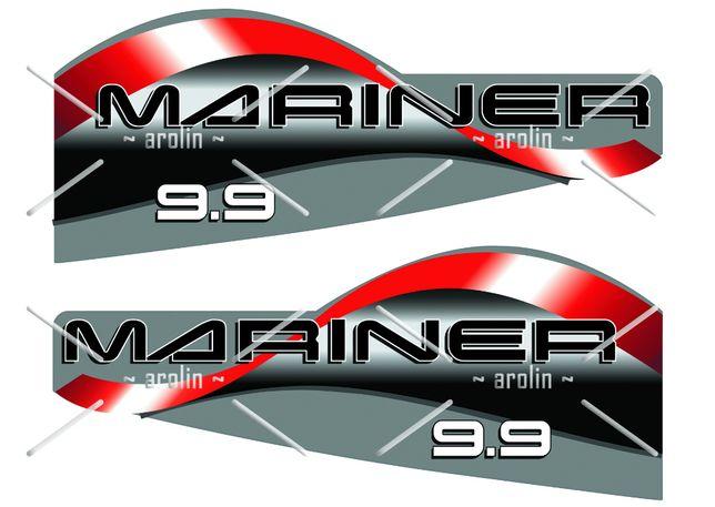 Logo, naklejka na silnik zaburtowy Mariner, Suzuki, Evinrude, Johnson