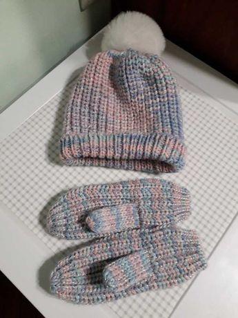Комплект шапочка+рукавички