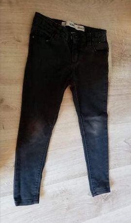 Szare spodnie jeans 116 122 elastyczne