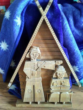 Гуцульское деревянное панно на стену
