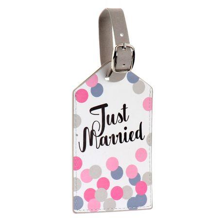 Zawieszka na bagaż, walizkę Just married IDENTYFIKATOR
