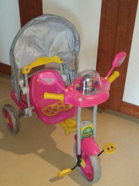 rowerek dziewczęcy rower trójkołowy trójkołowiec